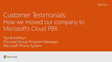 Customer Testimonial - How we moved our company to Microsoft's Cloud PBX