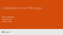 Collaboration in Microsoft Office Apps