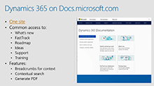 Documentation for Microsoft Dynamics 365: Great things are happening!