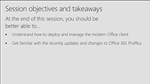 Moving to the modern Office: Getting your organization onto Microsoft Office 365 ProPlus