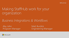 Understanding business process integrations in Microsoft StaffHub