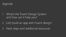 Build amazing apps with the Fluent Design
