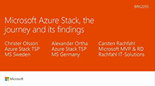 Microsoft Azure Stack, the journey and its findings