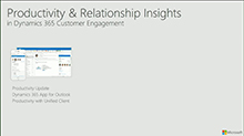Microsoft Dynamics 365 for Sales productivity and relationship insights