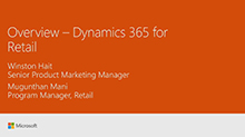 Overview: Microsoft Dynamics 365 for Retail