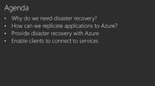 Optimize Azure for Disaster Recovery