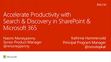Accelerate productivity with search and discovery in SharePoint and Office 365