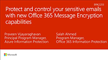 Protect and control your sensitive emails with new Office 365 Message Encryption capabilities