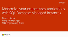 Modernize your on-premises applications with SQL Database Managed Instances