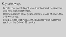 Proven Office 365 customer deployment and adoption strategies