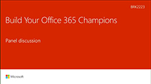 Build your Office 365 champions