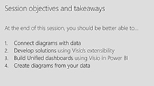 Build data-driven solutions using Microsoft Visio