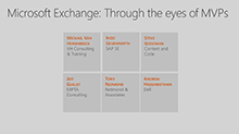 Microsoft Exchange: Through the eyes of MVPs (Panel discussion)