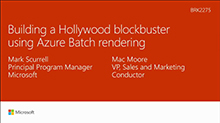 Building a Hollywood blockbuster using Microsoft Azure Batch rendering