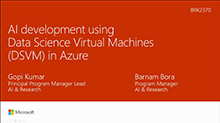 AI development using Data Science Virtual Machines (DSVM) in Azure