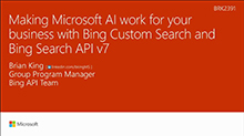 Making Microsoft AI work for your business with the custom Search capabilities of Cognitive Services