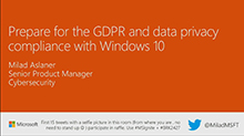 Prepare for the GDPR and data privacy compliance with Windows 10