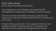 Manage all your communications workloads in Office 365