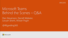 Microsoft Teams Behind the Scenes