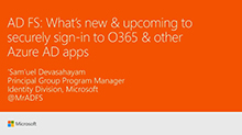 What's new and upcoming in AD FS to securely sign-in your users to Office 365 and other applications