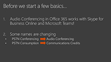 Adding Audio Conferencing services in Office 365 to your meeting experiences