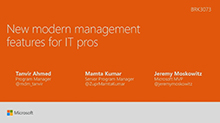 New modern management features for IT pros