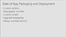 Next gen packaging and deployment of Windows apps in the enterprise
