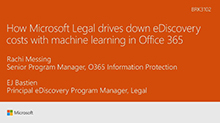 How Microsoft Legal drives down eDiscovery costs with machine learning in Office 365