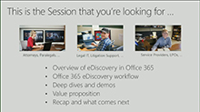 Quickly find what's relevant and reduce risk with intelligent eDiscovery in Office 365