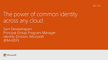The power of common identity across any cloud