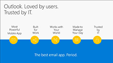 Deploying and using Outlook mobile in the Enterprise