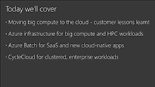 Meet the most demanding HPC customer needs on Azure with Cycle Computing and Batch