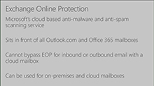 Implementing Exchange Online Protection for on-premises Exchange