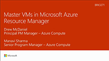 Master VMs in Microsoft Azure Resource Manager
