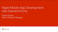 Rapid mobile app development with Xamarin.Forms