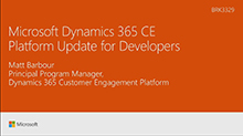 Microsoft Dynamics 365 CE Platform Update for Developers