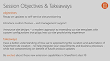 Using custom themes and designs to standardize the creation of clean, functional SharePoint sites