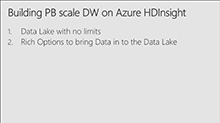 Building Petabyte scale Interactive Data warehouse in Azure HDInsight