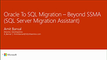 Oracle to SQL migration - beyond SQL Server Migration Assistant (SSMA)