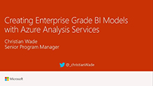 Creating enterprise grade BI models with Azure Analysis Services