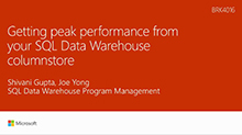 Getting peak performance from your SQL Data Warehouse column store