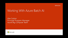 Working with models for machine learning and Azure Batch AI
