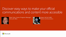 Discover easy ways to make your official communications and content more accessible