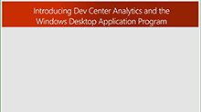 Dev Center analytics for Win32 developers (repeat)