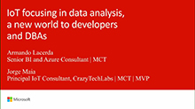 IoT focusing in data analysis, a new world to developers and DBAs